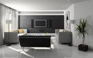 meubelen in moderne woonkamer