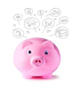 Geldreserve spaarvarken