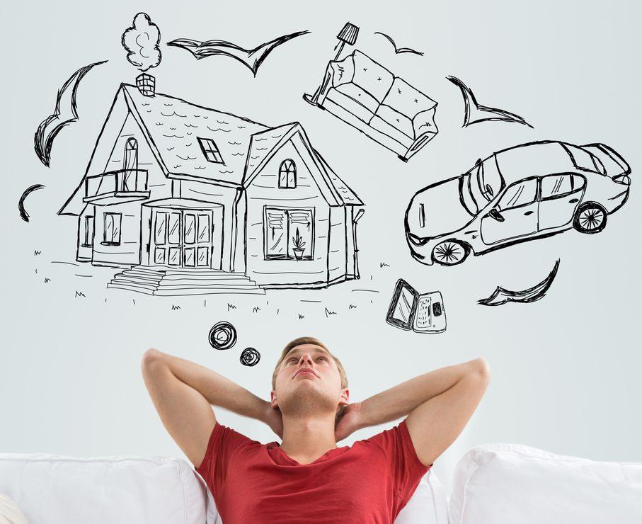 dromen van auto en woning met persoonlijke lening voor alle doeleinden